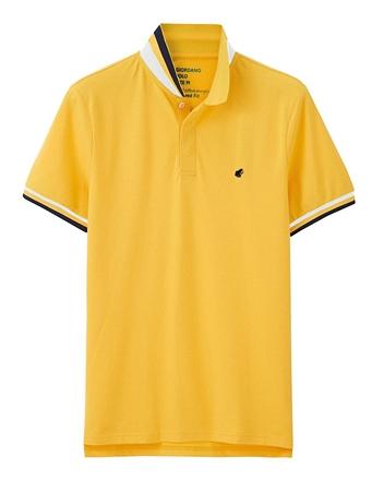 青蛙刺繡素色POLO衫