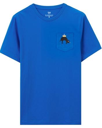 創意印花單標袋短袖T恤