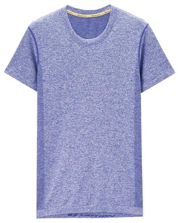 男裝COOLMAX圓領彈力透氣運動短袖T恤
