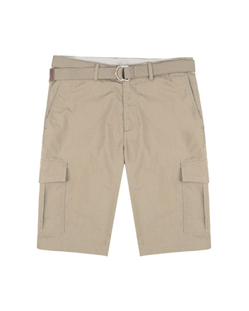 男裝COOLMAX素色口袋卡其短褲(附腰帶)
