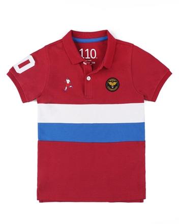 童裝世足系列立體徽章短袖POLO衫