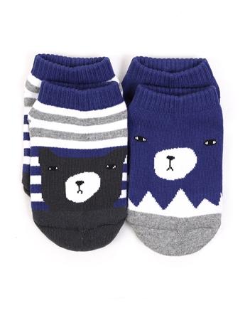 童裝可愛動物造型撞色短襪(兩雙入)