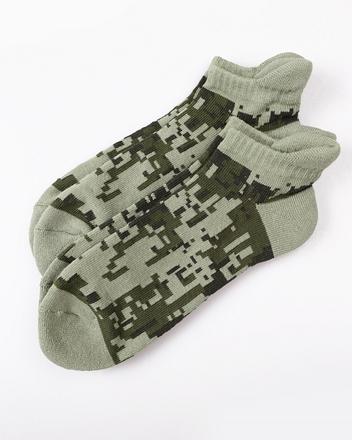 迷彩厚底短版棉襪(兩雙入)