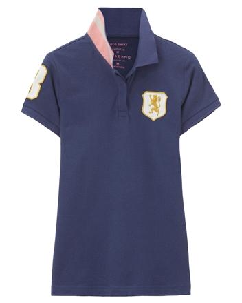 女裝勝利獅王盾牌修身POLO衫