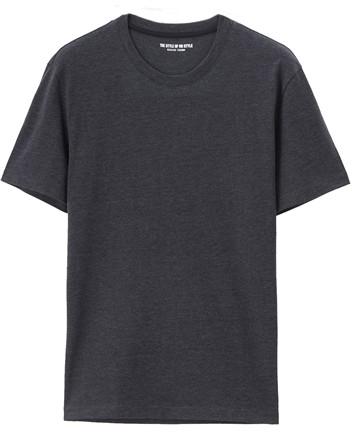男裝棉質圓領素色短袖T恤