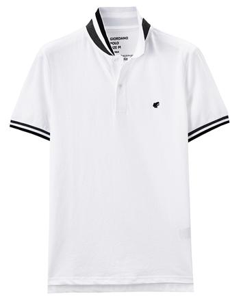 男裝青蛙圖案素色POLO衫