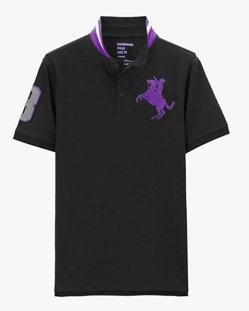 拿破崙刺繡彈性POLO衫