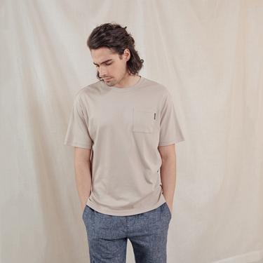 男裝極簡口袋素色T恤