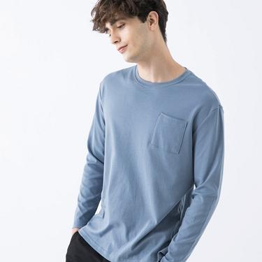 男裝純棉厚磅口袋T恤