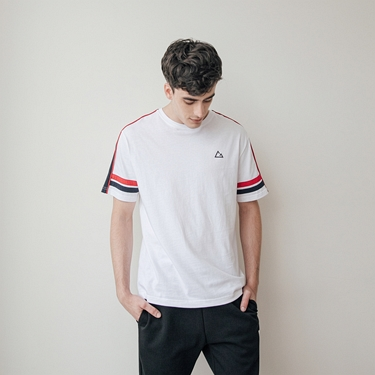 男裝G-MOTION拼接織帶撞色運動T恤