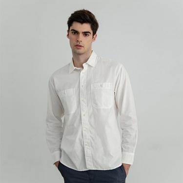 男裝雙口袋休閒襯衫