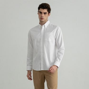男裝口袋防皺襯衫