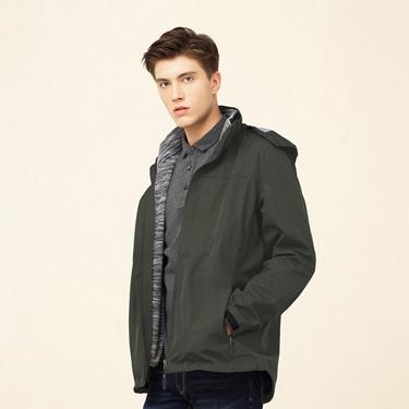 男裝3合1可拆帽戶外防風防水保暖外套