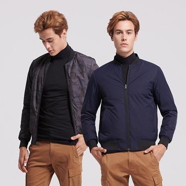 男裝厚版舖棉雙面穿飛行員外套
