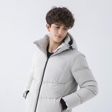 男裝輕盈保暖羽絨外套