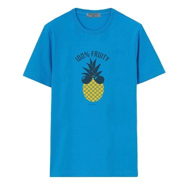 男裝夏日休閒印花T恤