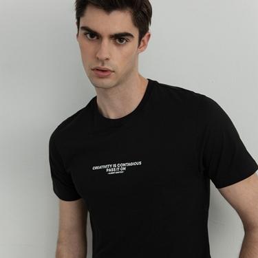男裝名人標語印花T恤
