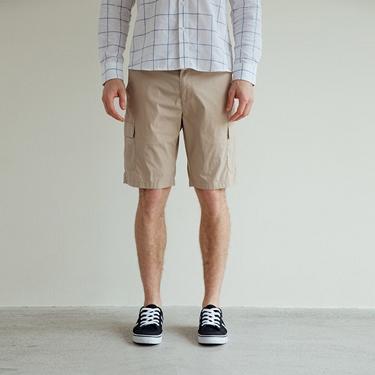 男裝工裝風彈力速乾短褲