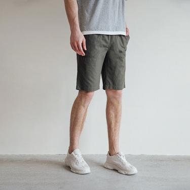 男裝大口袋抽繩卡其短褲