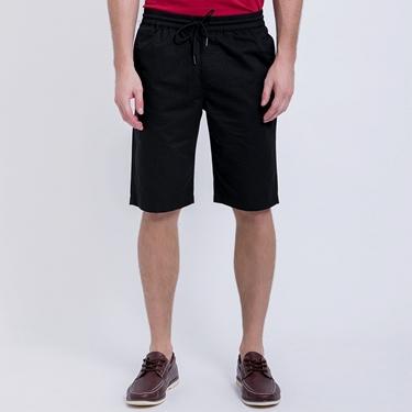 男裝純棉抽繩鬆緊腰休閒短褲