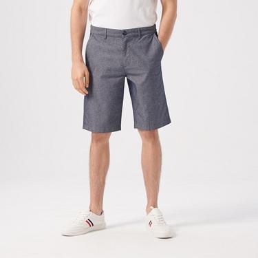 男裝素色修身百慕達短褲