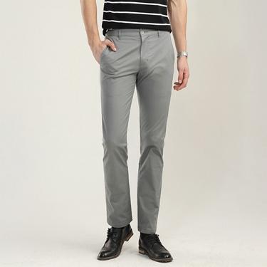 男裝素色修身錐形休閒長褲