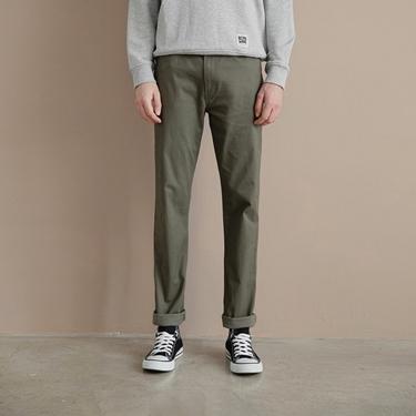男裝彈力棉質基本款錐形長褲