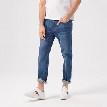 男裝彈性中腰基本款牛仔褲
