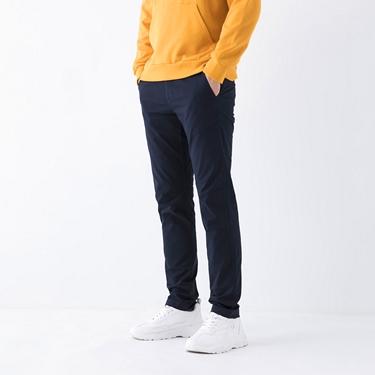 男裝基本款彈性低腰長褲