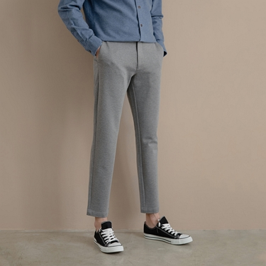 男裝雙面針織修身窄管長褲