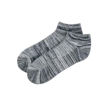 簡約素色彈力棉毛圈底防滑休閑短襪(2雙入)