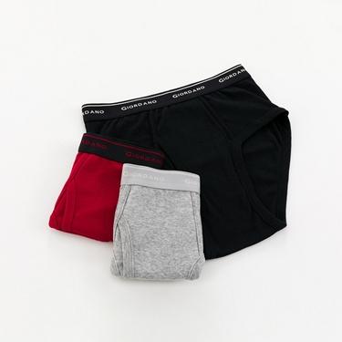 男裝素色純棉三角內褲(三件裝)