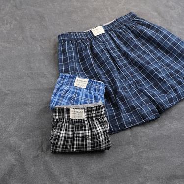 男裝純棉寬鬆平底四角褲(三件裝)