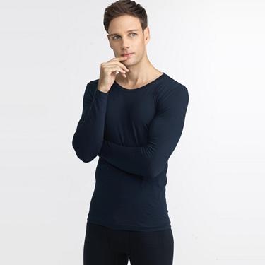 男裝 G-Warmer彈力舒適圓領極暖衣