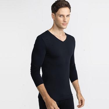 男裝G-Warmer彈力舒適V領極暖衣