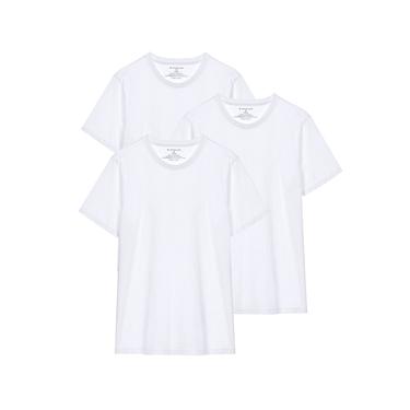男裝簡約素色純棉圓領短袖T恤(三件裝)