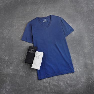 男裝素色純棉V領短袖T恤(三件裝)