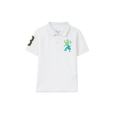童裝勝利獅王素色彈力萊卡POLO衫