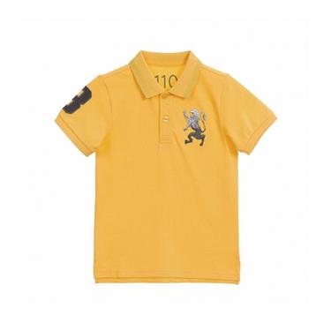 童裝勝利獅王漸層刺繡彈力萊卡POLO衫