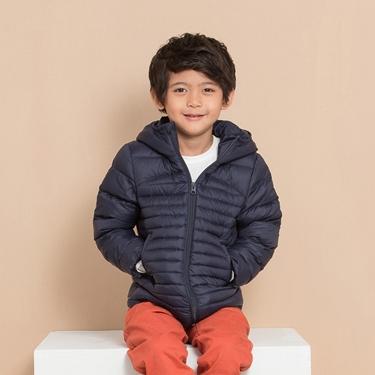 童裝素色可收納輕型羽絨外套