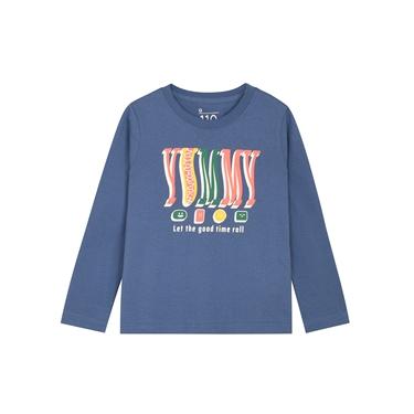 童裝多彩印花長袖T恤