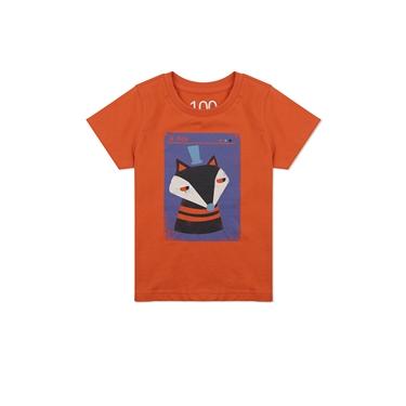 童裝純棉動物印花短袖T恤