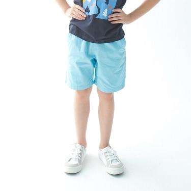 童裝素色鬆緊腰卡其短褲