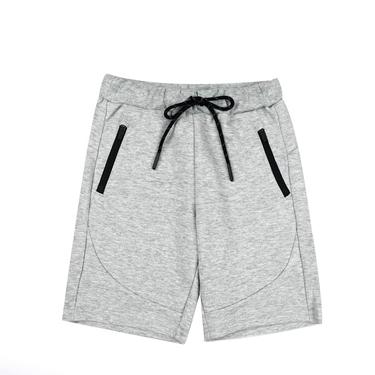 童裝素色拉鍊口袋運動短褲