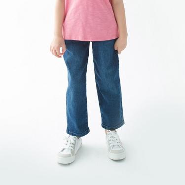 童裝鬆緊腰丹寧牛仔褲