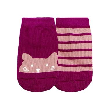 童裝趣味動物頭像條紋短襪(兩雙入)