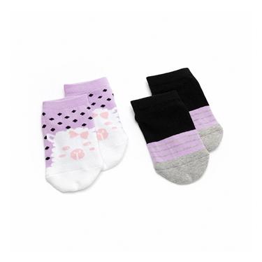 童裝可愛動物條紋短襪(兩雙入)