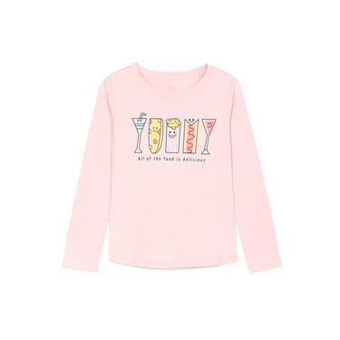 童裝可愛繽紛印花長袖T恤