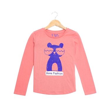 童裝可愛印花純棉長袖T恤