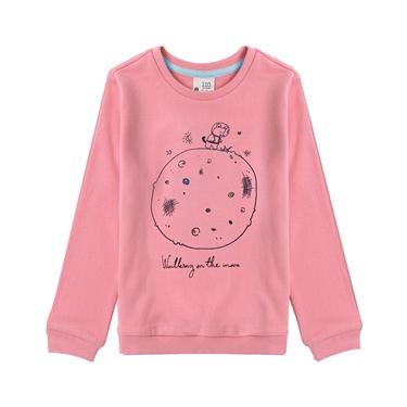 童裝趣味塗鴉印花長袖T恤